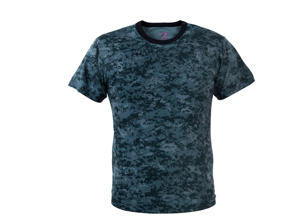 Remera Digital Midnight Blue Camo Rothco