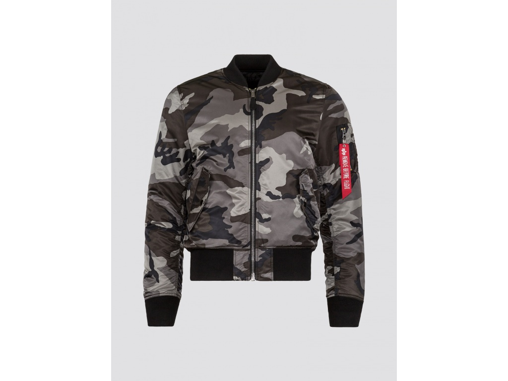 Campera Alpha MA-1 Slim Fit Tonal Black Camo