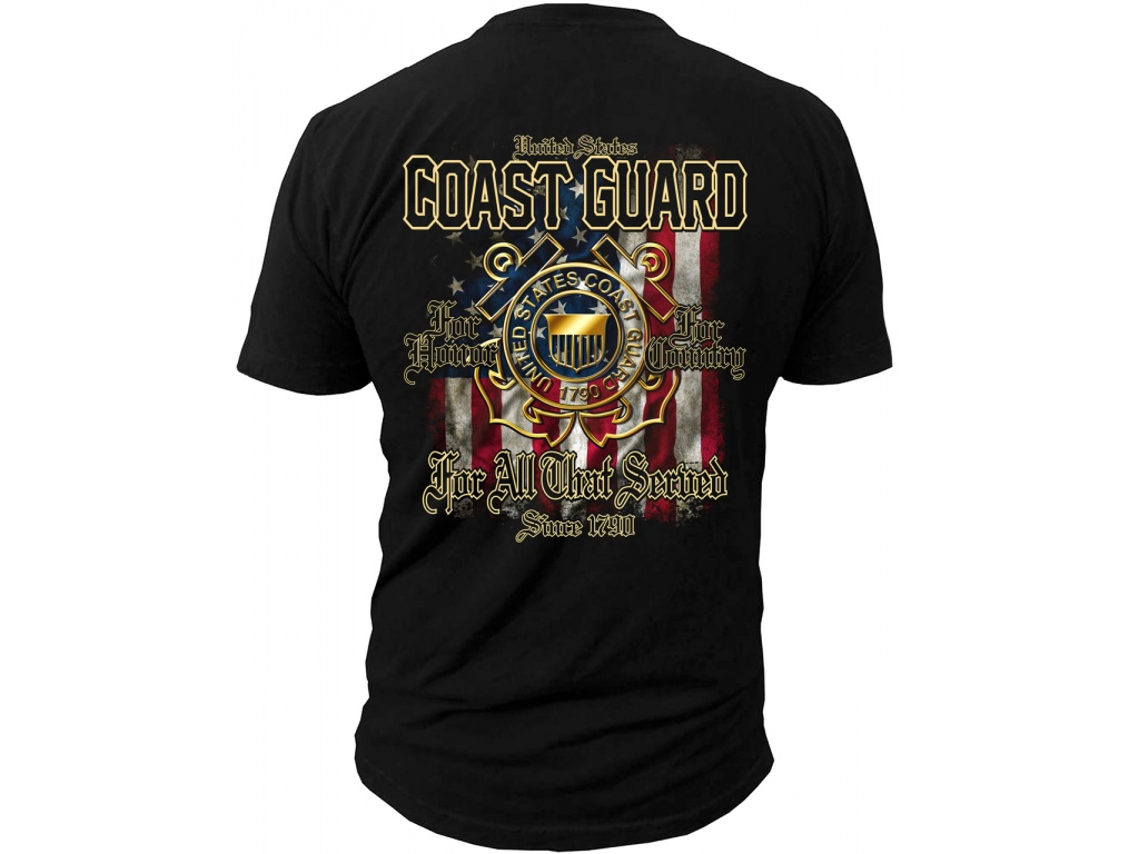 Remera Black Ink USCG For all that Served