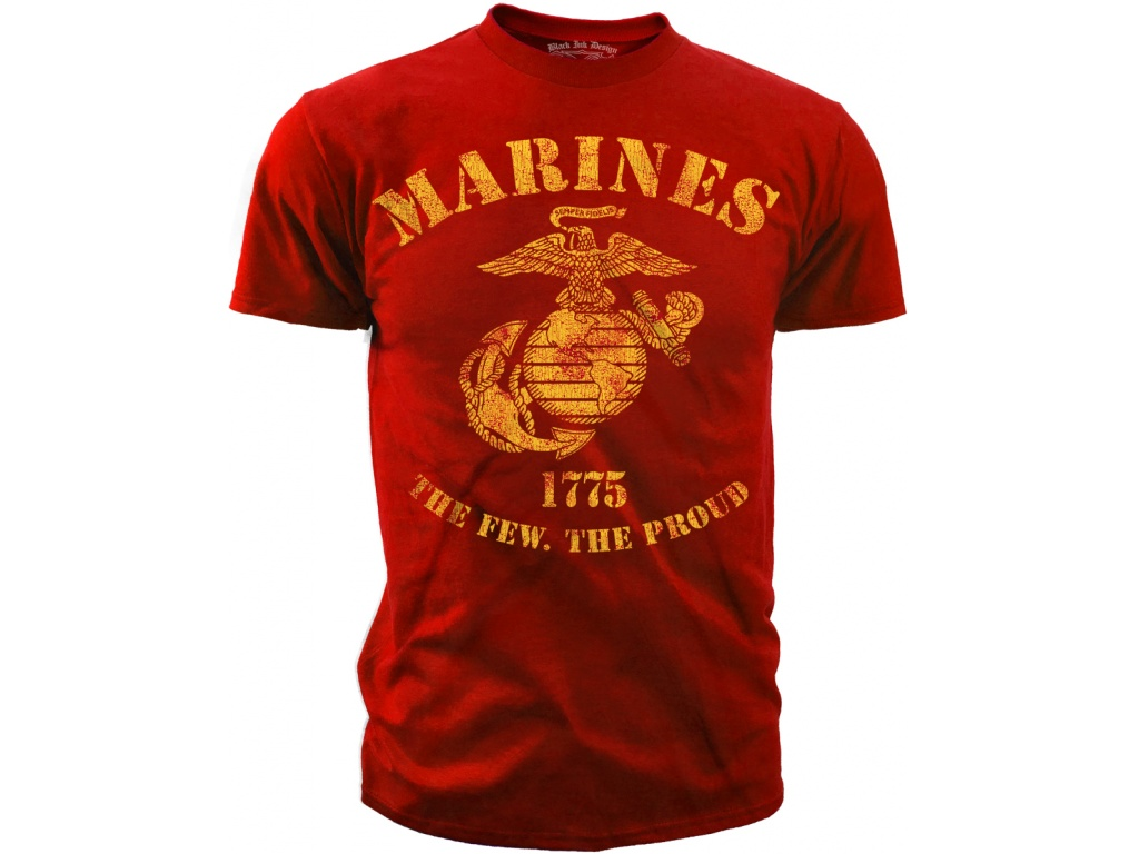Remera Black Ink USMC The Few The Proud