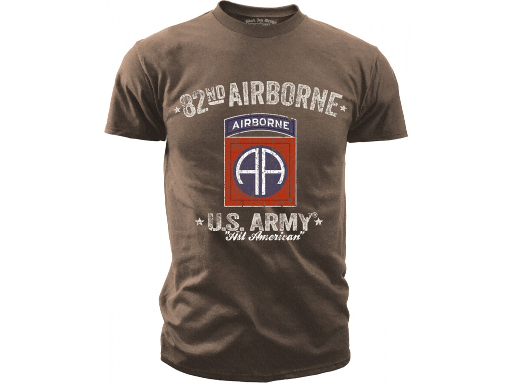 Remera Black Ink 82nd Airborne