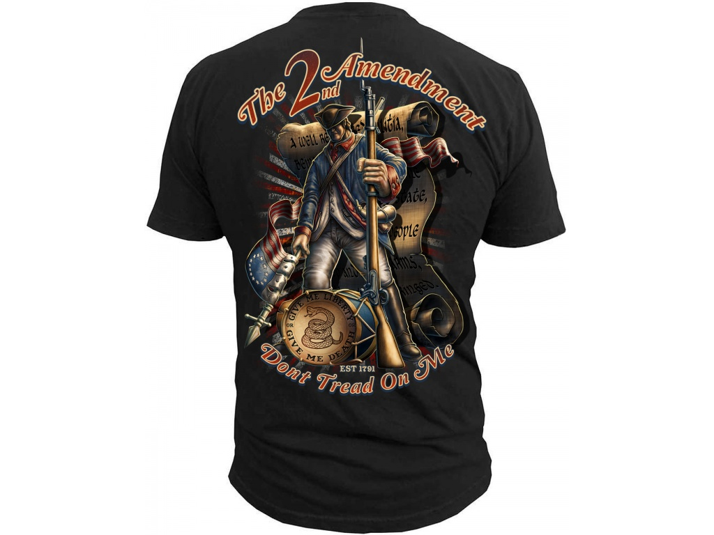 Remera Black Ink 2nd Amendment Dont Tread on Me